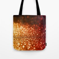 bisexual Tote Bags featuring Fire and flames  by Better HOME