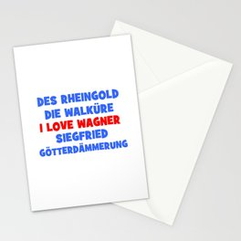 I love Wagner II Stationery Cards