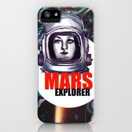 Mars explorer iPhone Case