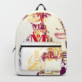 Typographic image Monroe Backpack
