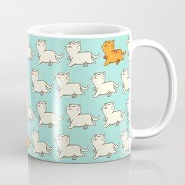 Proud cat pattern blue Coffee Mug