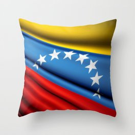 Flag of Venezuela Throw Pillow