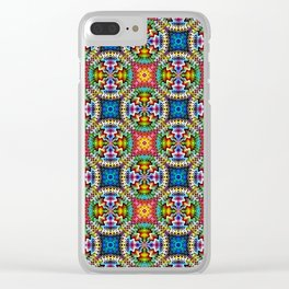 Native American Fashion Pattern Four Clear iPhone Case