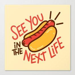 Eternal Hot Dog Canvas Print