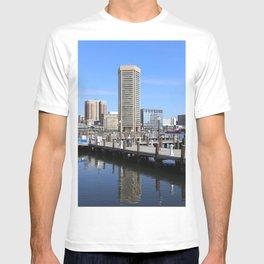 Baltimore's Inner Harbor and World Trade Center T-shirt