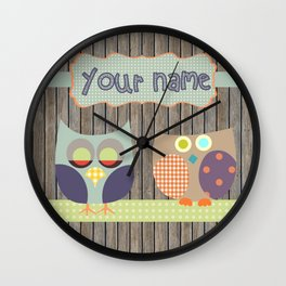 Personalized Home decor butterfly pattern in wooden blocks Kids Name Wall Decor Wall Clock