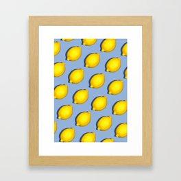 Yellow Lemons Framed Art Print