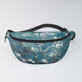 Van Gogh Almond Blossoms : Dark Teal Fanny Pack