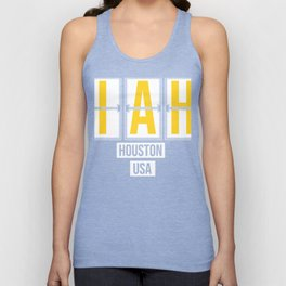 IAH - Houston - Texas - Airport Code Souvenir or Gift Design  Unisex Tank Top