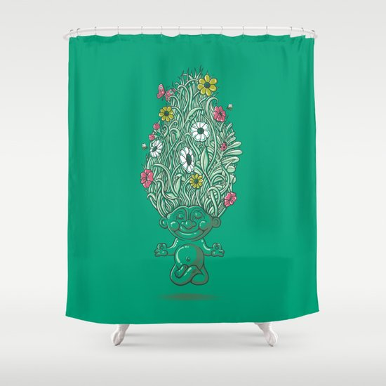 Nature Shower Curtains troll of nature shower curtainpeter kramar | society6