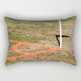 Orange Soccer Corner Rectangular Pillow