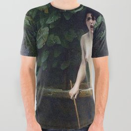 TRUTH COMING OUT OF HER WELL TO SHAME MANKIND - JEAN-LEON GEROME All Over Graphic Tee