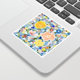 Summery Floral #illustration #pattern Sticker
