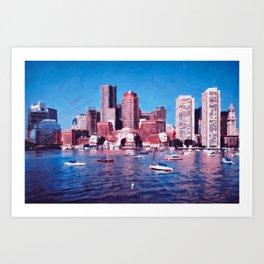 Boston, Panorama Art Print