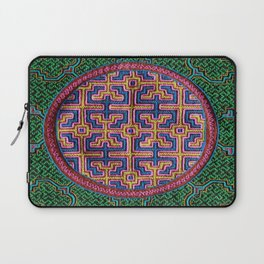 Song for Creativity - Traditional Shipibo Art - Indigenous Ayahuasca Patterns Laptop Sleeve