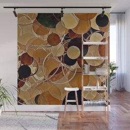 Autumn Bubbles Pattern Wall Mural