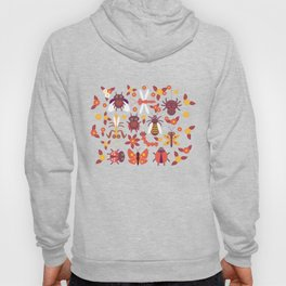 Funny insects Spider butterfly caterpillar dragonfly mantis beetle wasp ladybugs Hoody