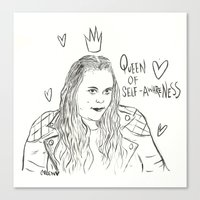 my mad fat diary Canvas Prints featuring Rae Earl - Mad fat diary by Creen