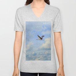 Flying stork Unisex V-Neck