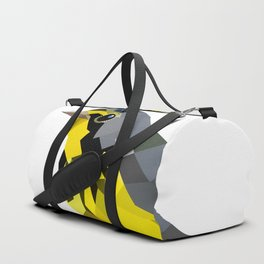 Bird art canada warbler Yellow gray Duffle Bag
