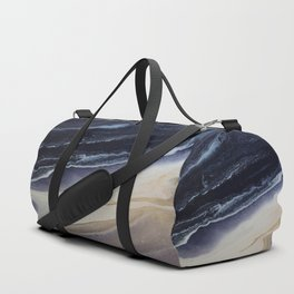 Marble in Blue and Ivories Duffle Bag