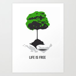 Cost of life Art Print