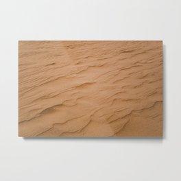 Rippled texture of orange desert sand on windy day Metal Print