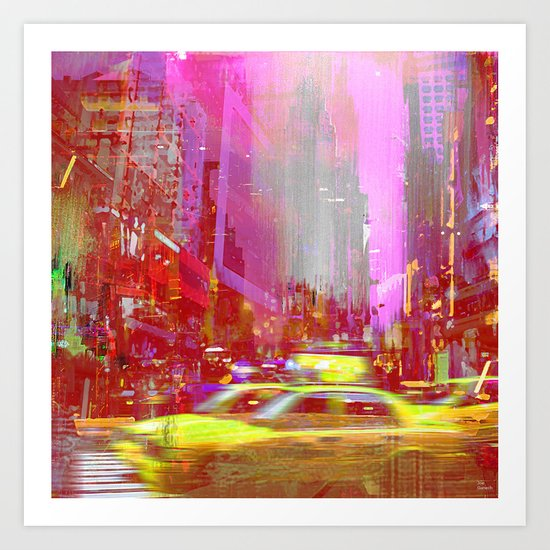Moving to New York  Art Print