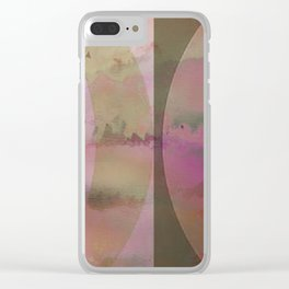 Mid-Century Sunset Abstract Clear iPhone Case