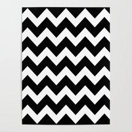 Chevron Black & White Poster