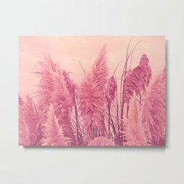 Pampas pink Metal Print