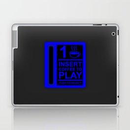 Insert Coffee - Neon Blue Laptop & iPad Skin