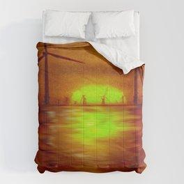 As the Sun goes down (Digital Art) Comforters