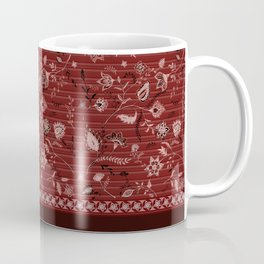 Paisleys in Maroon - by Fanitsa Petrou Coffee Mug