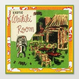 Tiki Art Exotic Waikiki Room Canvas Print