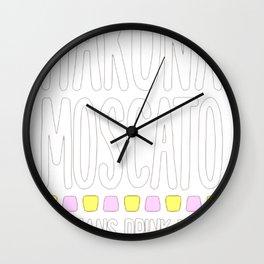 HAKUNA MOSCATO T-SHIRT Wall Clock