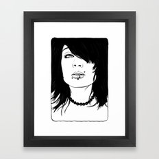 Girl with Piercings Framed Art Print