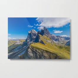 Dolomite Mountain Italy Landscape 1 by  Tre Dunham Metal Print