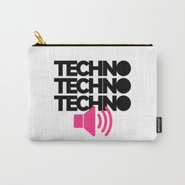 Techno Speaker Music Quote Carry-All Pouch