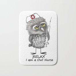Owl Nurse Bath Mat