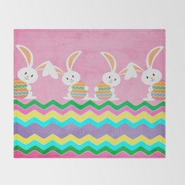 Easter Chevron Pattern Throw Blanket