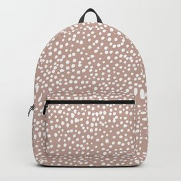 Little wild cheetah spots animal print neutral home trend warm dusty rose coral Backpack