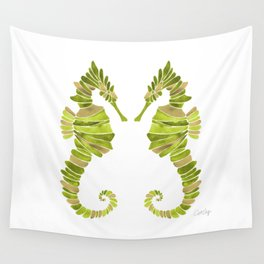Seahorse – Lime & Gold Wall Tapestry