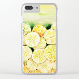 Limes and lemons Clear iPhone Case