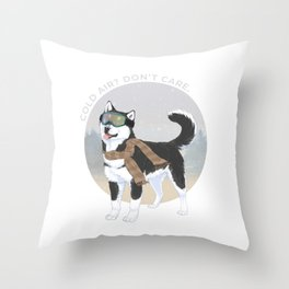 Cold air? Don't care. Throw Pillow