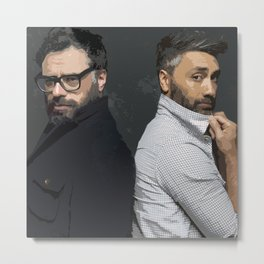 Jemaine and Taika Metal Print