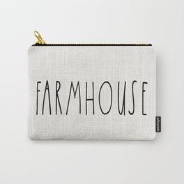 FARMHOUSE wording Typography Carry-All Pouch