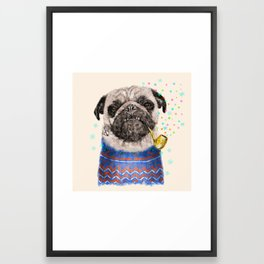 Mr.Pug II Framed Art Print