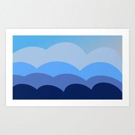 The Blue Hills Art Print