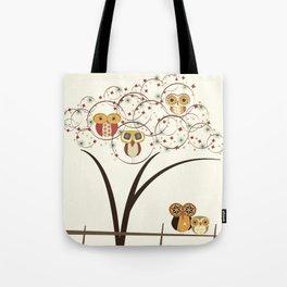 Owl Burst Tote Bag